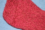 Closeup of Red Ragg Wool socks