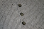 Closeup for buttons of Sage Sweater